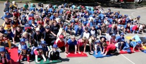 Pushups For Charity event at Officer Primary School